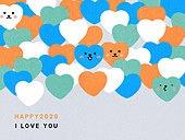 패턴, 백그라운드, 2020년, 부드러움 (컨셉), 사랑 (컨셉), 하트