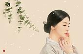 일러스트, 한복, 전통문화 (주제), 한국화, 동양화, 백그라운드, 명절 (한국문화)