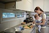 아기 (나이), 엄마, 돌보기 (컨셉), 육아맘, 신생아 (0-1개월), 우울 (슬픔)