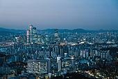 고층빌딩, 대한민국 (한국), 도시, 도시풍경, 여의도동 (영등포구), 서울국제금융센터 (서울), 부동산