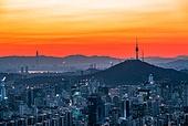 대한민국 (한국), 도시풍경, 도심지, 서울 (대한민국), 남산 (서울), 남산서울타워 (서울)