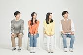 한국인, 대학생, 청년 (성인), 라이프스타일, 멀리보기 (응시), 무표정