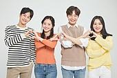 한국인, 동양인 (인종), 대학생, 청년 (성인), 라이프스타일, 하트, 사랑 (컨셉), 하트 (컨셉심볼), 행복
