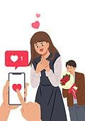 SNS (기술), 인증 (컨셉), 로맨스 (컨셉), 데이트 (로맨틱), 스마트폰