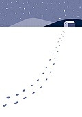백그라운드, 백그라운드 (주제), 겨울, 눈 (얼어있는물), 풍경 (컨셉), 발자국