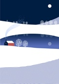 백그라운드, 백그라운드 (주제), 겨울, 눈 (얼어있는물), 풍경 (컨셉), 밤 (시간대), 보름달, 집