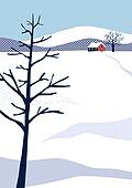백그라운드, 백그라운드 (주제), 겨울, 눈 (얼어있는물), 풍경 (컨셉), 집, 나무