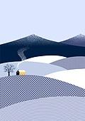 백그라운드, 백그라운드 (주제), 겨울, 눈 (얼어있는물), 풍경 (컨셉), 집, 연기 (물리적구조)