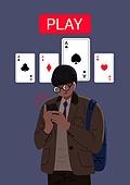 도박 (주제), 중독, 중고등학교 (학교건물), 학생, 카드게임, 교복