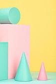 백그라운드, 사람없음, 오브젝트 (묘사), 컬러, 파스텔톤 (색상강도), 도형, 기하학모양 (도형), 육면체 (Three-dimensional Shape), 원뿔, 교육 (주제), 원형 (이차원모양), 장난감블록 (장난감), 블록모양 (도형), 원통 (Three-dimensional Shape)