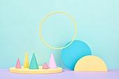 백그라운드, 사람없음, 오브젝트 (묘사), 컬러, 파스텔톤 (색상강도), 도형, 기하학모양 (도형), 육면체 (Three-dimensional Shape), 원뿔, 교육 (주제), 원형 (이차원모양), 장난감블록 (장난감), 블록모양 (도형)
