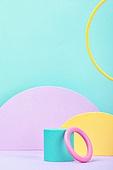 백그라운드, 사람없음, 오브젝트 (묘사), 컬러, 파스텔톤, 도형, 기하학모양, 교육 (주제), 장난감블록, 블록모양, 실내, 스튜디오촬영, 원형 (이차원모양)