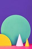 백그라운드, 사람없음, 오브젝트 (묘사), 컬러, 파스텔톤, 도형, 기하학모양, 교육 (주제), 장난감블록, 블록모양, 실내, 스튜디오촬영, 원형 (이차원모양), 원뿔