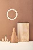 백그라운드, 사람없음, 오브젝트 (묘사), 컬러, 도형, 기하학모양, 교육 (주제), 장난감블록, 블록모양, 실내, 스튜디오촬영, 육면체 (Three-dimensional Shape), 원뿔, 원형 (이차원모양), 목재 (재료)