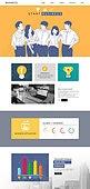 웹템플릿, 메인페이지 (이미지), 레이아웃, 비즈니스, 화이트칼라 (전문직), 기업, 신입사원, 채용 (고용문제), 사무실, 라인아트 (일러스트기법)
