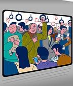 화이트칼라 (전문직), 출퇴근, 대중교통 (운수), 스트레스, 지하철