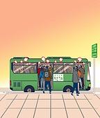 화이트칼라 (전문직), 출퇴근, 대중교통 (운수), 스트레스, 버스