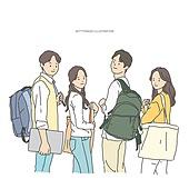 일러스트, 캐릭터 (컨셉), 학생, 대학생, 청년 (성인)