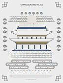 패턴, 도형, 기하학모양 (도형), 랜드마크, 한국전통문양 (패턴), 한국전통, 창덕궁 (서울)