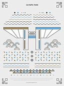 패턴, 도형, 기하학모양 (도형), 랜드마크, 한국전통문양 (패턴), 한국전통, 올림픽공원 (스포츠장소)