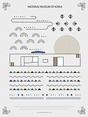 패턴, 도형, 기하학모양 (도형), 랜드마크, 한국전통문양 (패턴), 한국전통, 박물관
