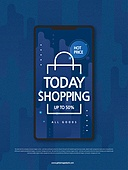 클래식블루, 파랑 (색상), 유색배경, 패턴, 기하학모양 (도형), 연례행사 (사건), 상업이벤트 (사건), 쇼핑 (상업활동), 세일 (사건), 휴대폰 (전화기), 모바일앱, 온라인쇼핑