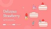 이벤트페이지, 랜딩페이지, 상업이벤트 (사건), 봄, 딸기 (베리), 쿠폰
