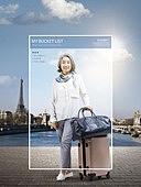 그래픽이미지, 편집디자인, 버킷리스트, 라이프스타일, 취미, 라이프스타일 (주제), 움직이는활동 (활동), 노인여자 (성인여자), 여행, 해외여행, 혼자여행 (여행), 휴식
