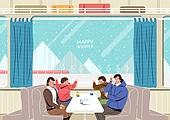 일러스트, 겨울, 상업이벤트 (사건), 축제 (엔터테인먼트), 벡터 (일러스트), 기차, 기차여행, 열차