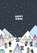 일러스트, 겨울, 상업이벤트 (사건), 축제 (엔터테인먼트), 벡터 (일러스트), 불빛축제, 밤, 가족