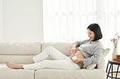 임신 (물체묘사), 미소, 기대 (컨셉), 로션 (화장품), 튼살