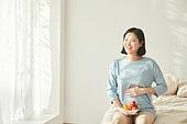 임신 (물체묘사), 미소, 기대 (컨셉), 건강식