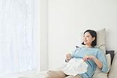 임신 (물체묘사), 미소, 기대 (컨셉)