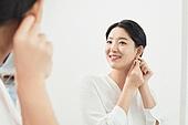임신 (물체묘사), 미소, 거울