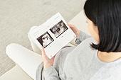 임신 (물체묘사), 미소, 햇빛 (빛효과), 초음파 (의료진단도구)