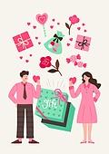 커플, 사랑 (컨셉), 연례행사 (사건), 상업이벤트 (사건), 화이트데이 (홀리데이), 선물 (인조물건), 꽃