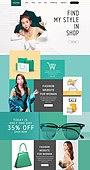 웹템플릿, 홈페이지, 메인페이지 (이미지), 레이아웃, 쇼핑 (상업활동), 상업이벤트 (사건), 세일 (사건), 패션, 뷰티, 여성, 이벤트페이지