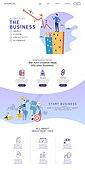 웹템플릿, 메인페이지 (이미지), 이벤트페이지, 비즈니스 (주제), 화이트칼라 (전문직), 비즈니스맨, 캐릭터, 플랫디자인 (이미지)