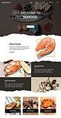 웹템플릿, 메인페이지 (이미지), 이벤트페이지, 음식, 음식재료 (음식), 요리 (음식상태), 채소 (음식), 조리생선 (해산물), 연어-동물 (민물고기)