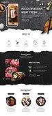 웹템플릿, 메인페이지 (이미지), 이벤트페이지, 음식, 음식재료 (음식), 요리 (음식상태), 채소 (음식), 조리생선 (해산물), 쇠고기 (붉은고기), 한우 (소)
