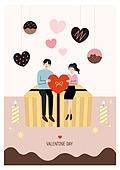 연례행사 (사건), 상업이벤트 (사건), 발렌타인데이 (홀리데이), 발렌타인데이, 커플, 사랑 (컨셉), 선물 (인조물건), 초콜릿 (달콤한음식)
