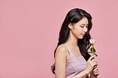 여성, 뷰티, 산호색 (색상), 꽃한송이 (꽃), 장미