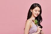여성, 뷰티, 산호색 (색상), 꽃한송이 (꽃), 장미, 미소