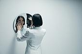 갈등, 내면, 흑백, 거울, 사악 (컨셉)
