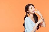 여성, 뷰티, 주황 (색상), 미소
