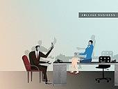 비즈니스, 직업 (역할), 콜라주 (이미지테크닉), 비즈니스맨, 비즈니스우먼, 비즈니스미팅 (미팅)
