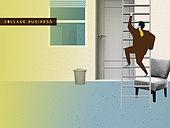 비즈니스, 직업 (역할), 콜라주 (이미지테크닉), 비즈니스맨