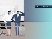 비즈니스, 직업 (역할), 콜라주 (이미지테크닉), 비즈니스맨, 비즈니스우먼