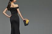 미녀 (아름다운사람), 검정색 (색상), 드레스, 초대장
