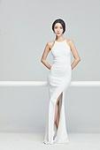 흰색 (색), 드레스, 고급 (컨셉), 멋 (컨셉), 여성